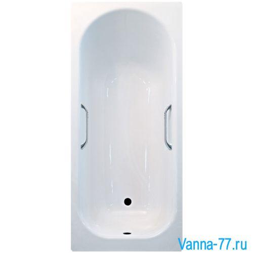 Ванна Россия Ресса Silver 150х70 с ручками