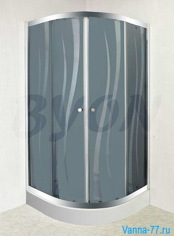 """BYON (802) Душевой уголок с поддоном """"RUNDA"""" 90x90 см"""